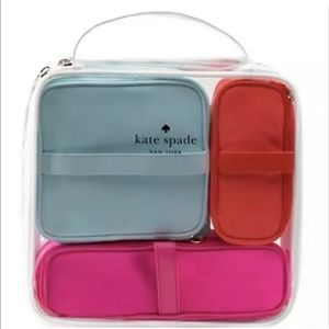 Kate Spade Cosmetic Bag Collection 4 piece NEW